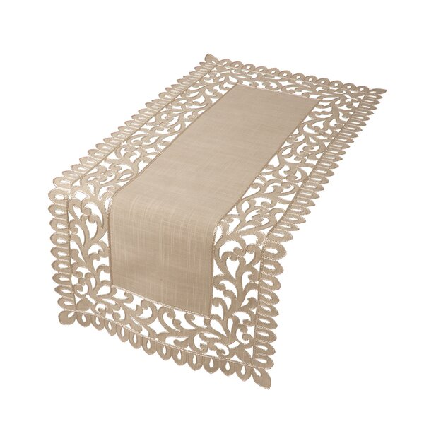 Burnard Embroidered Cutwork Table Runner by One Allium Way