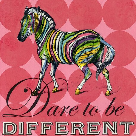 Dare to Be Different Zebra Canvas Art by Oopsy Daisy