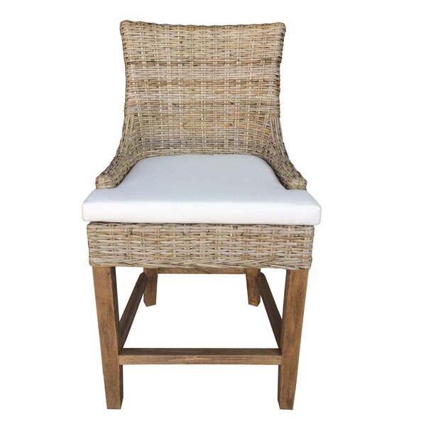 Ellison Patio Bar Stool with Cushion by Rosecliff Heights