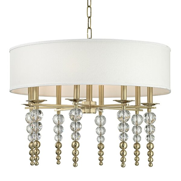Leger 8 - Light Shaded Drum Chandelier by Everly Quinn Everly Quinn