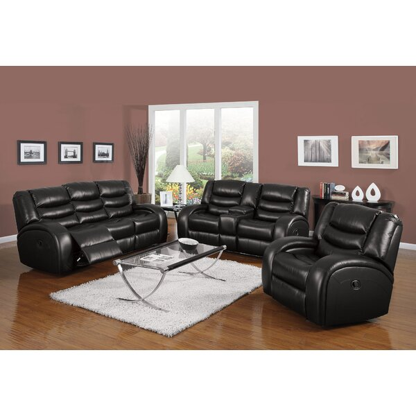 Tindley Reclining Motion 3 Piece Living Room Set by Latitude Run