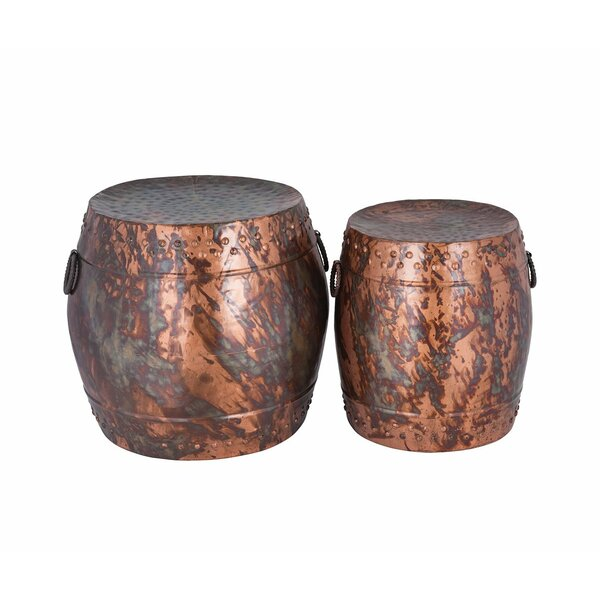 Baristo 2 Piece Garden Stool Set by Bloomsbury Market
