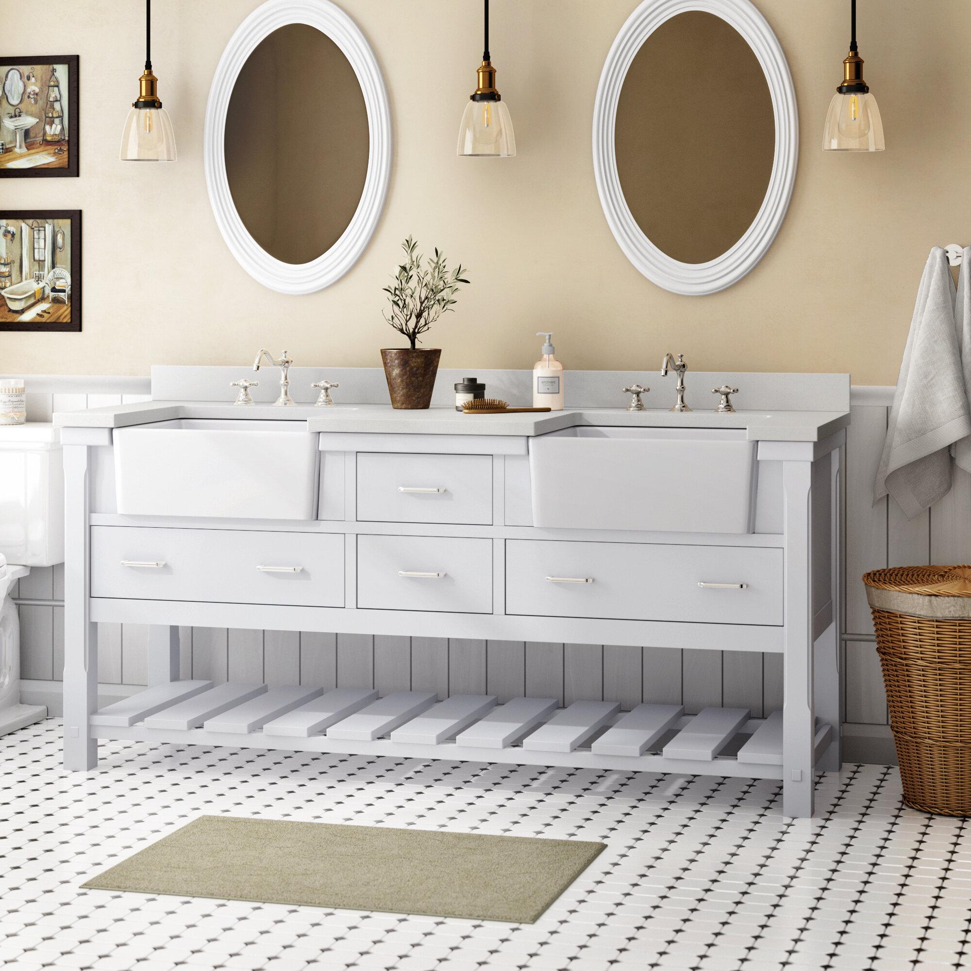 Kbc Charlotte 72 Double Bathroom Vanity Set Reviews Wayfair