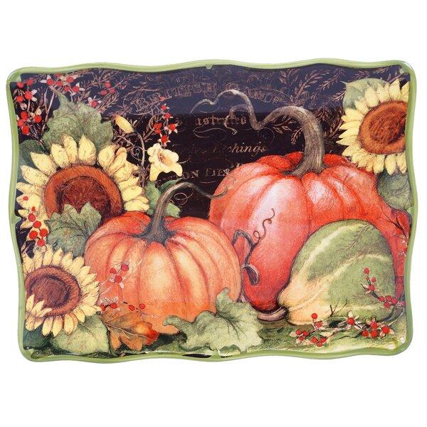Botanical Harvest Rectangular Platter by Certified International