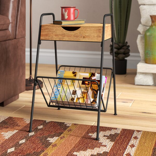 Droz End Table With Storage By Loon Peak