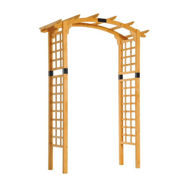Garden Arch Trellis Wood Arbor by Outsunny