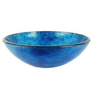 Shop For Ocean Foil Glass Circular Vessel Bathroom Sink ByFontaine by Italia