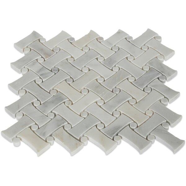 Pedigree Random Sized Marble Mosaic Tile in Asian Statuary by Splashback Tile