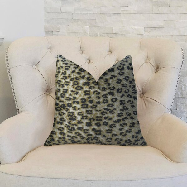 Cheetah Handmade Throw Pillow by Plutus Brands