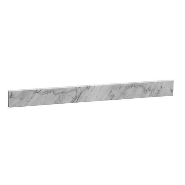 61 x 3 Marble Backsplash in Carrara White by Ronbow