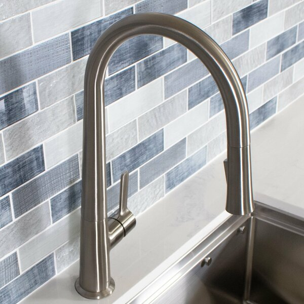 Spring Pull Down Single Handle Kitchen Faucet with Side Sprayer by Koozzo Koozzo