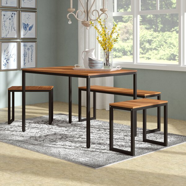 John 4 Piece Dining Set by Gracie Oaks