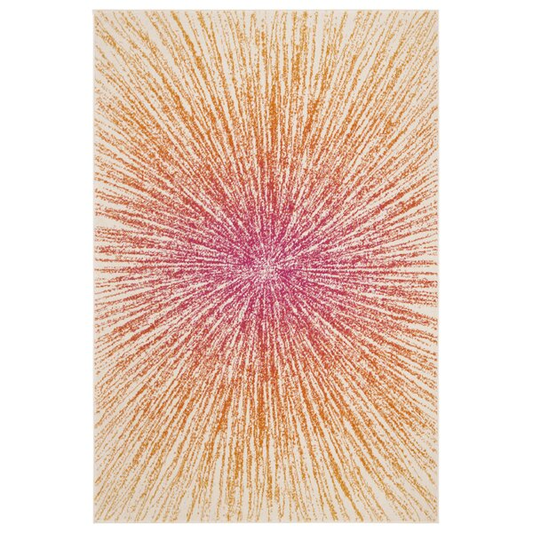 Hannan Fuchsia/Cream Area Rug by Mercury Row