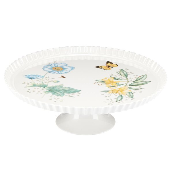 Butterfly Meadow Melamine Footed Tray by Lenox