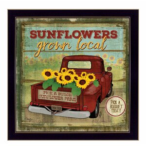 'Sunflowers From the Farm' Framed Vintage Advertisement by Trendy Decor 4U