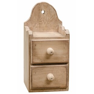 Deals 2-Drawer Solid Wood Box ByAugust Grove