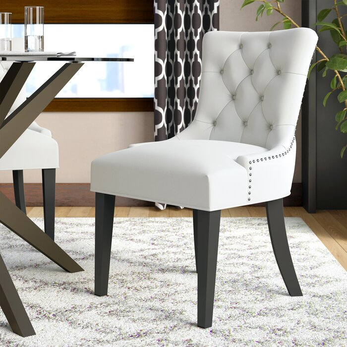 Excellent Carlton Tufted Upholstered Dining Chair Bralicious Painted Fabric Chair Ideas Braliciousco