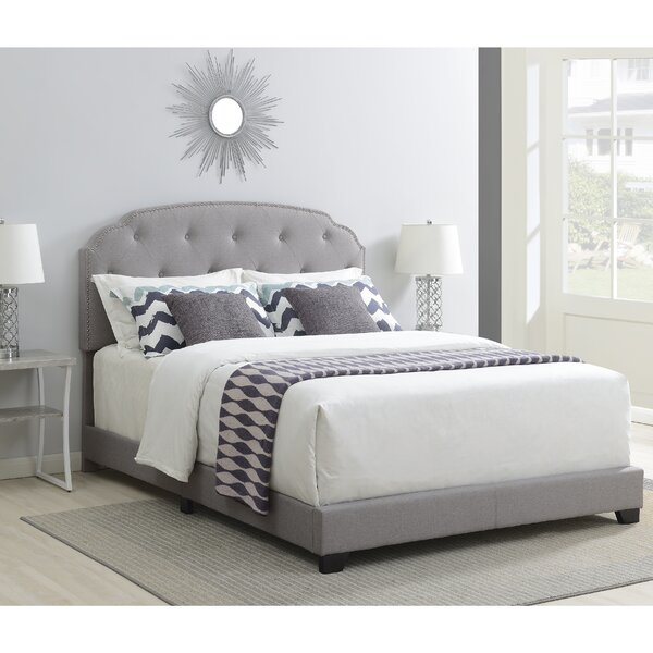 Elora Nailhead Trimmed Upholstered Standard Bed by Andover Mills