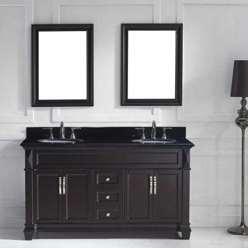Kace 59 Double Bathroom Vanity Set with Mirror