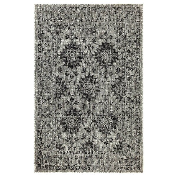 Arverne Floral Gray Indoor/Outdoor Area Rug by Charlton Home Charlton Home