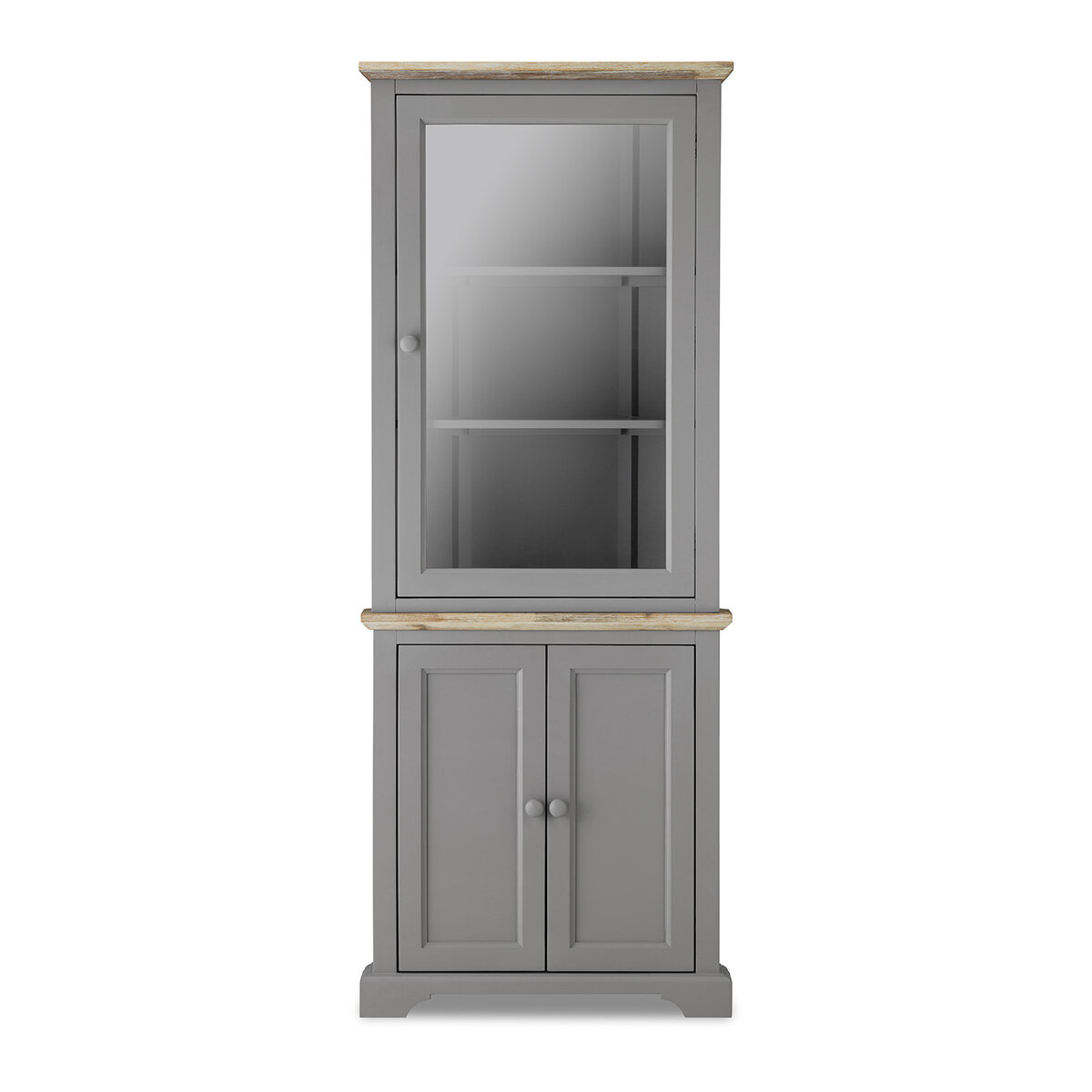 Teague Corner Display Cabinet