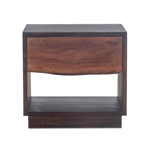 Woodbury Acacia Wood 1 Drawer Nightstand by Foundry Select