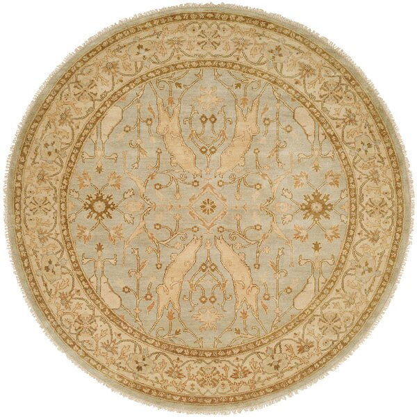 Williamshile Hand-Knotted Light Blue/Beige Area Rug by Wildon Home ®