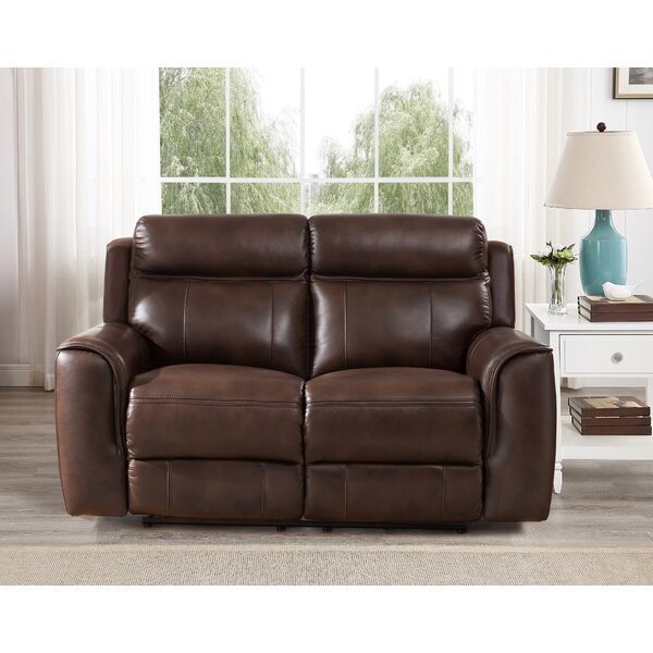 Best #1 Gurley Leather Reclining Loveseat By Red Barrel Studio Wonderful