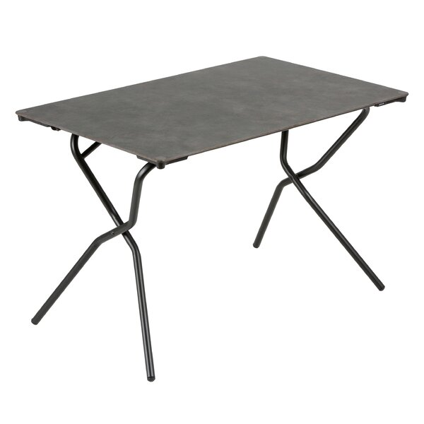 Anytime Rectangular Folding Stainless Steel Dining Table by Lafuma