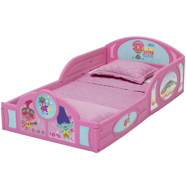Trolls World Tour Toddler Sleigh Bed by Delta Children