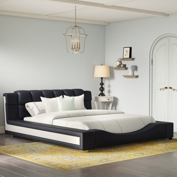 Augu Upholstered Platform Bed by Orren Ellis