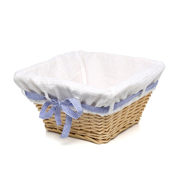 Natural Square Nursery Basket with White Waffle Liner (Set of 2) by Lark Manor