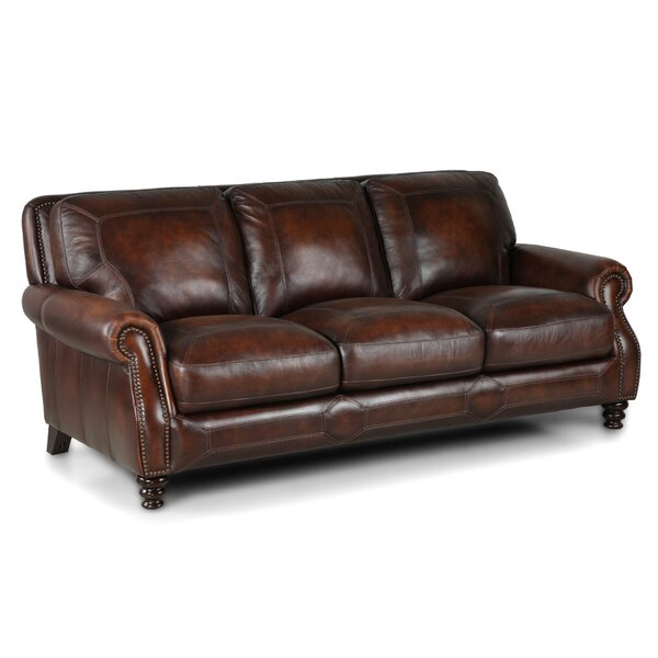 Karlson Leather Sofa by Greyleigh