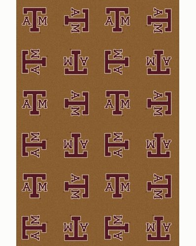 NCAA Collegiate II Texas A&M Novelty Rug in Gold by My Team by Milliken