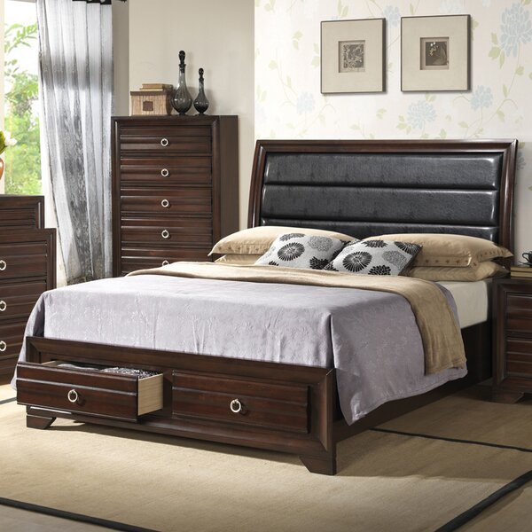 Upholstered Storage Standard Bed by Hazelwood Home