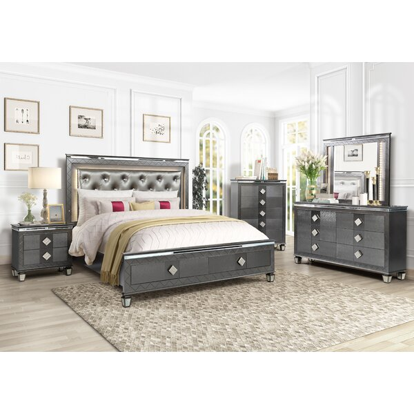 Halcomb Platform Configurable Bedroom Set by Everly Quinn