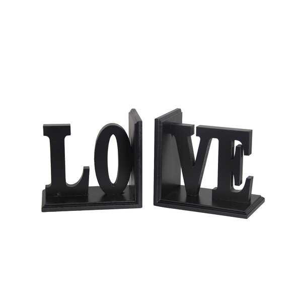 Love Wooden Bookend by Darby Home Co