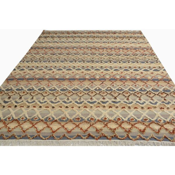 Alfredo Moroccan Hand-Woven Wool Gray/Ivory Area Rug by Isabelline