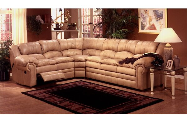 Riviera Reclining Sectional Sleeper By Omnia Leather Cool