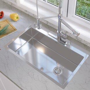 valencia series 33   x 22   single bowl drop in kitchen sink 12 inch deep kitchen sinks   wayfair  rh   wayfair com