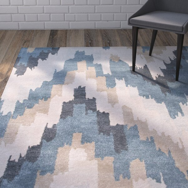 Valtierra Hand-Tufted Blue Area Rug by Wrought Studio