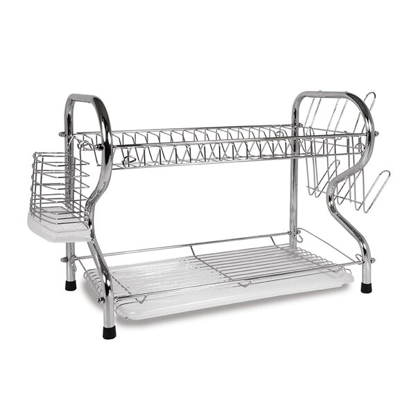 16 2 Level Dish Rack with Rubberized Feet by Better Chef