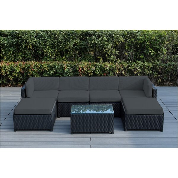 Brough 7 Piece Sectional Seating Group with Cushions by Longshore Tides