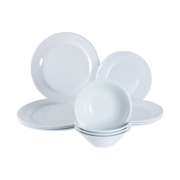 Elinore Melamine 12 Piece Dinnerware Set, Service for 4 by Mint Pantry