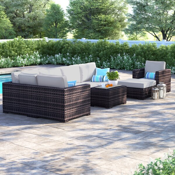 Letona Resort 4 Piece Sectional Seating Group with Cushions by Sol 72 Outdoor