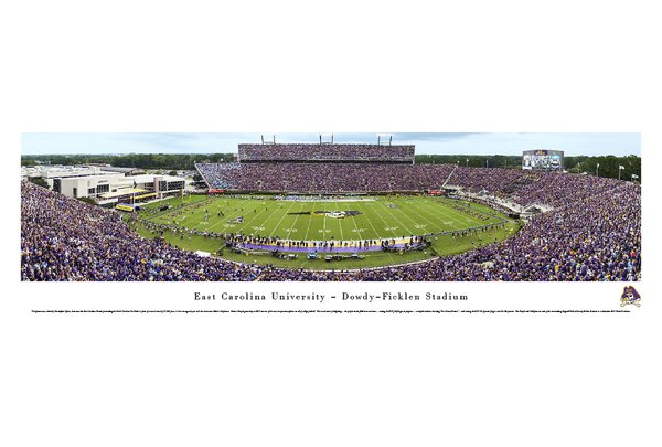 NCAA East Carolina University by Christopher Gjevre Photographic Print by Blakeway Worldwide Panoramas, Inc