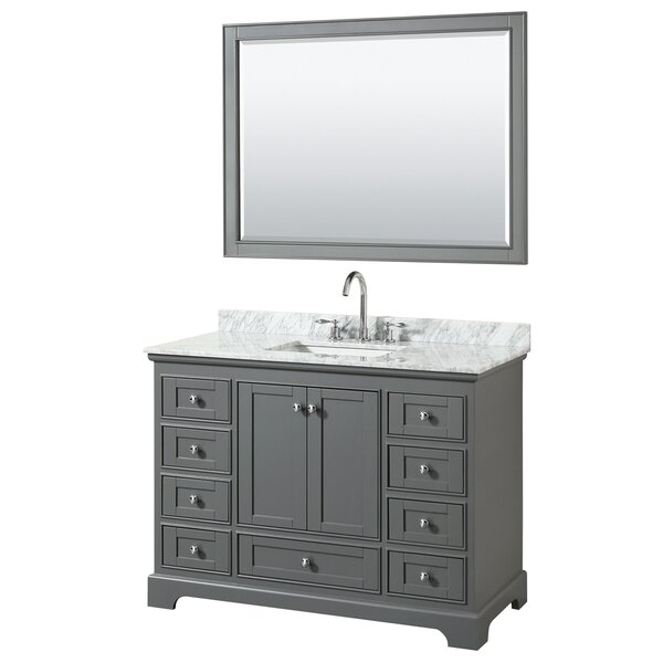 Deborah 48 Single Bathroom Vanity Set with Mirror by Wyndham Collection