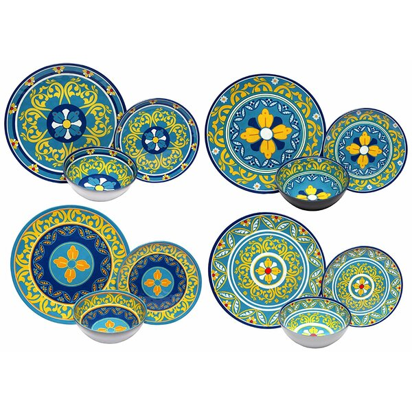 Mariko Melamine 12 Piece Dinnerware Set by Bloomsbury Market