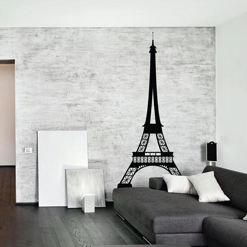 Sissylittle Eiffel Tower Wall Decal Reviews Wayfair