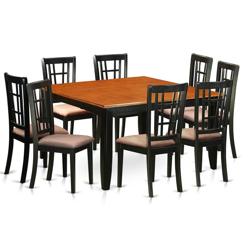 Pilcher Modern 9 Piece Wood Dining Set